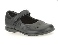Girls Clarks Black Leather Light Up Mary Jane School Shoes - UK Infant 7 G BNIB
