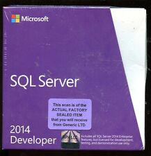 Factory Sealed - E32-01098 Microsoft Windows SQL Server 2014 Developer