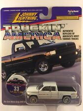 Johnny Lightning Truckin' America '96 1996 Dodge Ram 1500 White Pickup Truck