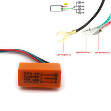 DC 12V 240W 3-Pin Turn Signal Flasher Relay For Motorcycle ATV Lamp LED Light