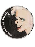 2019 Cooks Island Madonna Legend Of Music .999 Silver 1oz Colorized