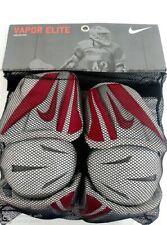 New Nike Vapor Elite- Large- White/Red/Silver Lacrosse Arm Guards