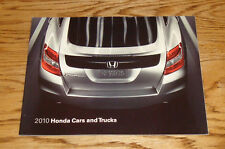Original 2010 Honda Car & Truck Full Line Sales Brochure 10 Civic CR-V Crosstour