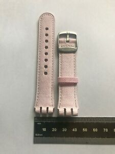 022 17mm Swatch Strap Beat Digital 'Moon Or Beat' Pink