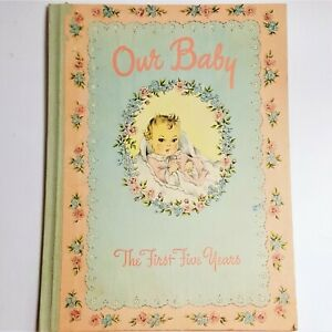 1943 Vintage Baby Record Memory OUR BABY Book 1st Five Years Whitman* Written In