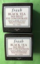 2 fresh Black Tea Age-Delay Eye Concentrate NIB Each 0.1 oz. Total 0.2 oz.|6ml