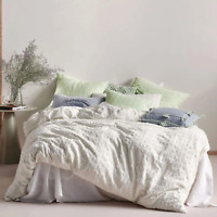 Linen House Benedita Mint 100%Cotton Quilt Cover Duvet Doona Set Super King Size