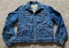 Vtg 50s Mens Wrangler Blue Bell Denim Jacket Sanforized Double Pocket Mens 38