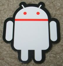 """ANDROID DROID Red White robot logo Sticker 2.5"""" Google andrew bell"""