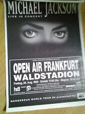 Michael Jackson 1992 .   Original Concert/Poster DIN A 1 , 84 x 60 cm