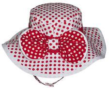 Sun Hat - White & Red Polkadots