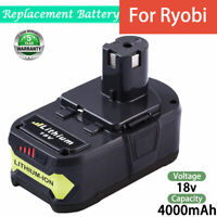 4.0Ah 18 Volt Lithium-Ion Battery For Ryobi P108 18V One+ Plus P102 P103 P107 US