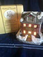 Colonial Candle Of Cape Cod Colonial Village Christmas Toy Shop Lighted House