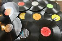 "LOT OF 10 VINYL 12"" INCH RECORDS FOR CRAFTS DECORATIONS, LP"