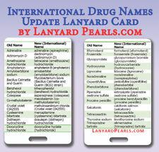 International Medication Name Update Lanyard Card