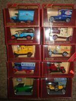 JOB LOT  Matchbox Yesteryear x 10   VANS  CARS & TRUCKS  RED  BOXES