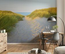 Bedroom wallpaper Sandy beach scenery 144x100inch + FREE adhesive wall mural