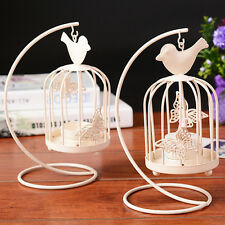 HOT Creative Vintage Candle Holder BirdcageLight Tealight Lantern Hanging Stand