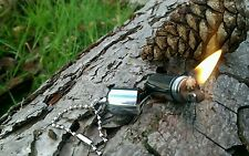 Mini Emergency EDC Capsule / Peanut Lighter Hiking Camping Bushcraft & Survival