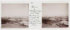 Alger darse Ancien port turc Algérie Photo Plaque de verre Stereo