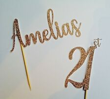 18th Birthday Rose Gold Personalised Cake Topper 16th 21st 30th 40th 50th 60th