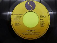 """Talking Heads and she was - 45 Record Vinyl Album 7"""""""