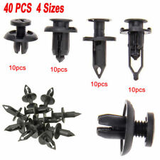 40PCS Universal Car Push Retainer Pin Body Bumper Rivet Trim Moulding Clip Kits`