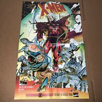 X-MEN MUTANT GENESIS by JIM LEE CLAREMONT BYRNE VINTAGE PROMO POSTER MARVEL 1991