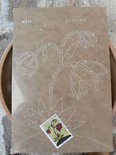 NUOVO Tavola Tavoletta legno compensato prestampata hobby mod fiori
