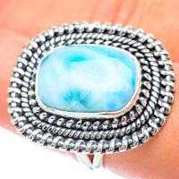 Large Larimar 925 Sterling Silver Ring Size 8.25 Ana Co Jewelry R56973F
