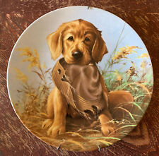 Caught In The Act - The Golden Retriever Collector Plate By Lynn Kaatz