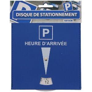 Disque de Stationnement Bleu Parking - 15x15cm - Zone Bleue Voiture Camion Moto