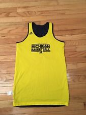 Michigan Wolverines Ncaa Adidas Team Issued Used Women's Basketball Jersey