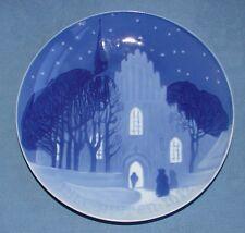 """RARE BING & GRONDAHL DENMARK CHRISTMAS PLATE 1912 BLUE & WHITE 7"""" EXCELLENT"""