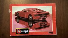 Bburago 1986 Katalog catalogue catalog catalogo Burago brochure Prospekt +40 pag