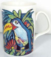 Royal Doulton Mug Expressions ENDANGERED SPECIES Fine China Parrot Frog Garden
