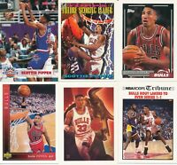Scottie Pippen Lot of 20 Chicago Bulls basketball cards EXMT lot