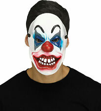 Fun World Killer Clown Red White Blue Horror Halloween Mask