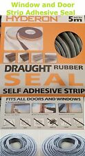 Home Window Door Draught Rubber Brush Self Adhesive Pile Excluder Seal Strip 5M