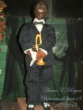 Artisan Arturo E.Reyna ~MR LOUIS ARMSTRONG~ FIGURE HAND SCULPT ONE OF A KIND