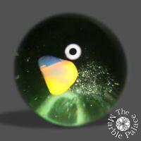 20mm-Handmade Art Glass Marble- Opal Aventurine - by: Bela Glass