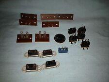 17 Vintage 2-pin wafer sockets connectors - Various Shapes and Sizes - VGC