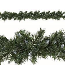 Sala De Navidad Decoración guirnaldas artificiales 9ft 180 Puntas-Nevado