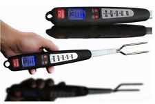 BBQ Tools And Accessories Meat Thermometer For Grill Fork Ready Alarm Cooking