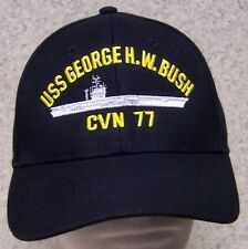 Embroidered Baseball Cap Military Navy USS George H W Bush NEW 1 size fits all