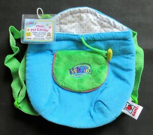 Webkinz NEW 'Plush Pet Carrier' TURQUOISE Knapsack **  WITH NEW CODE -- HC102