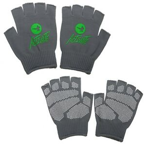 ACTIVATE Gripper Fingerless Gloves - Gym Cycling Running Work Hunting Fishing