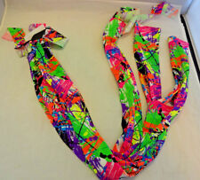 New Sleazy Sleepwear Horse 3 Tube Tail Tie Sock Nylon Stretch Braid Neon Splash
