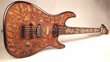 "Blueberry New Handmade Top-carved Electric Guitar ""Floral"" w/ Seymour Duncan set"