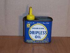 Vintage Door-Ease Dripless Oil Tin Can 4 Fl. Oz. Handy Oiler Muskegon Michigan